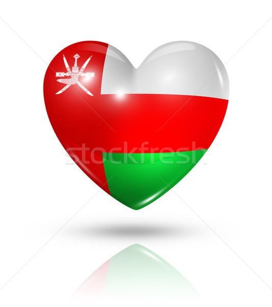 Sevmek Umman kalp bayrak ikon simge Stok fotoğraf © daboost