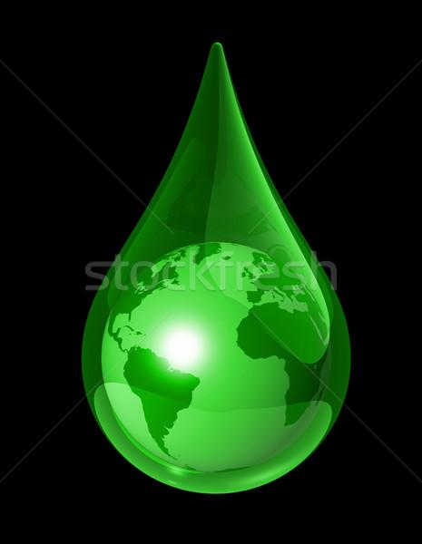 Ziemi kropla wody zielone świat świecie Pokaż Zdjęcia stock © daboost