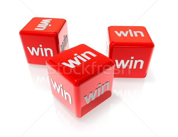 Win red dices Stock photo © daboost