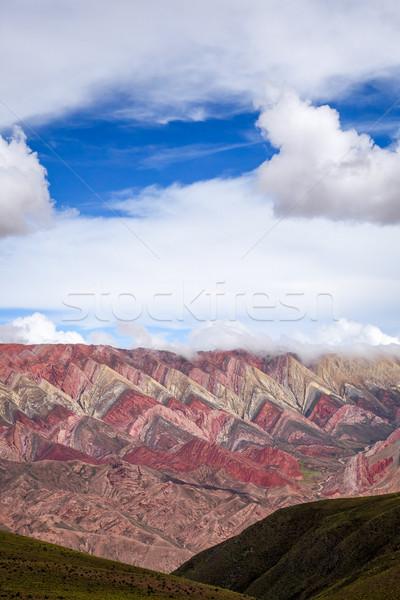 Gekleurd bergen breed hemel natuur berg Stockfoto © daboost
