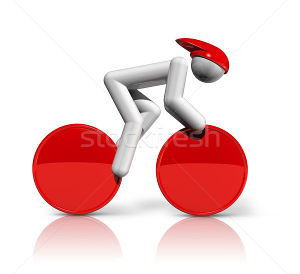 Cycling Track 3D symbol Stock photo © daboost