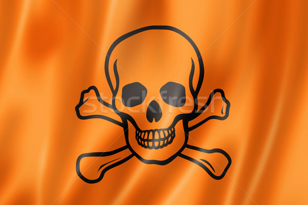 toxic poison skull flag Stock photo © daboost