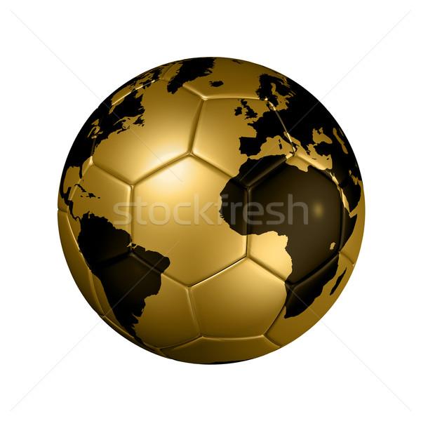 Foto stock: Oro · fútbol · fútbol · pelota · mundo · mundo