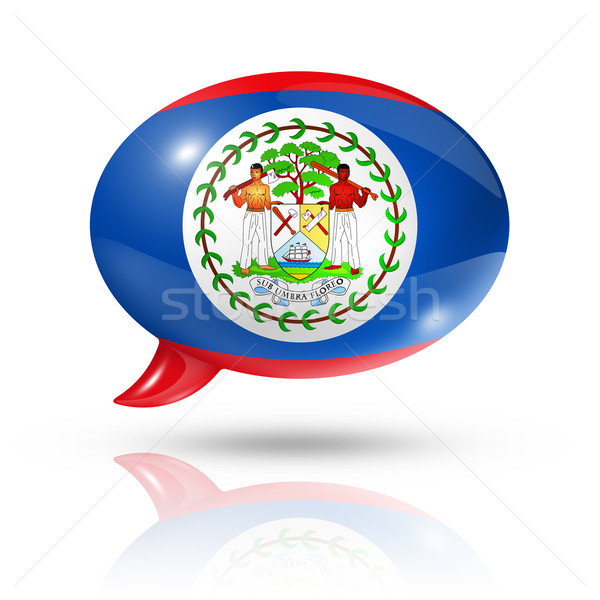 Belize flag speech bubble Stock photo © daboost