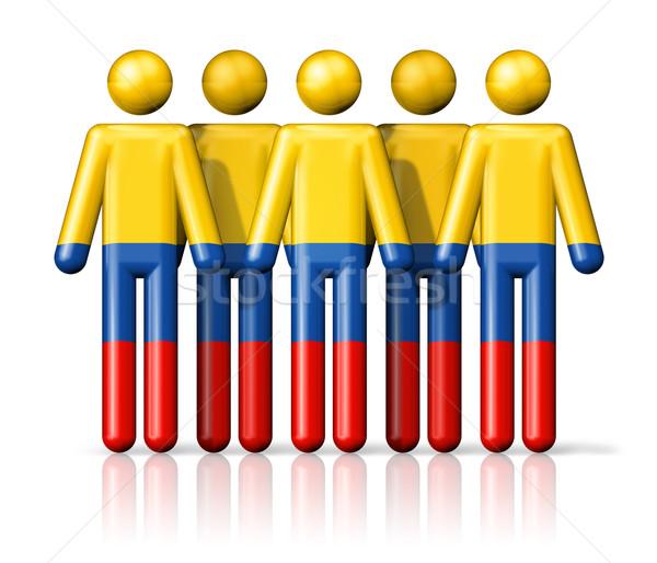 Bandera Colombia social comunidad símbolo Foto stock © daboost