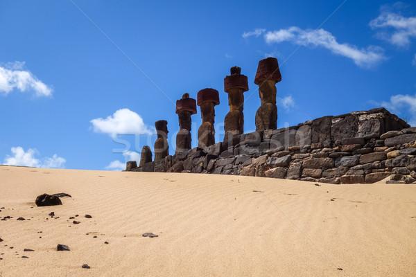 Praia páscoa ilha oceano rocha Foto stock © daboost
