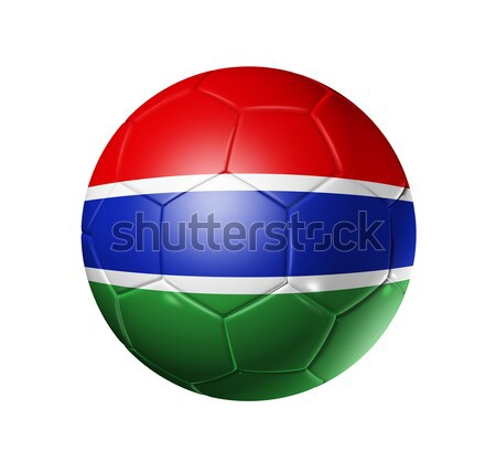 Soccer football ball with Gambia flag Stock photo © daboost
