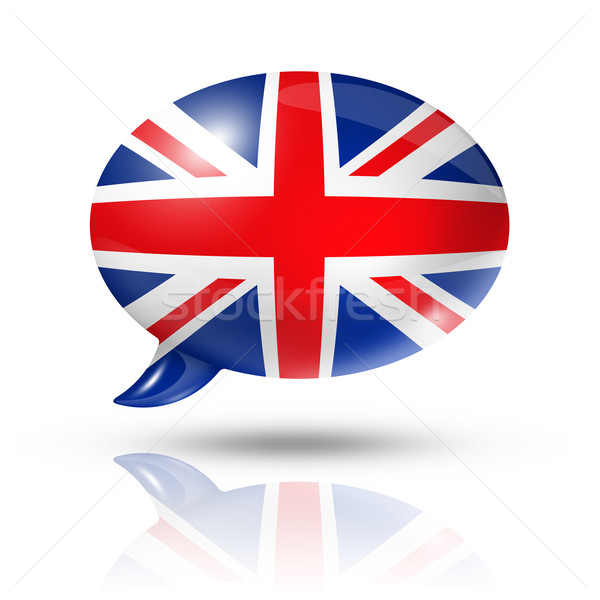 British flag speech bubble Stock photo © daboost