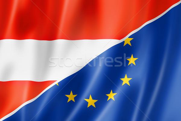 Austria and Europe flag Stock photo © daboost