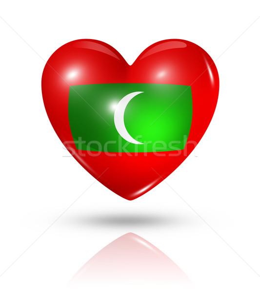 愛 モルディブ 中心 フラグ アイコン シンボル ストックフォト © daboost