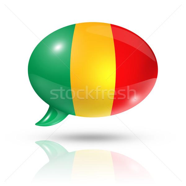 Malian flag speech bubble Stock photo © daboost