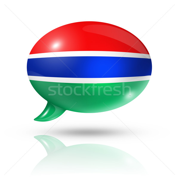 Gambian flag speech bubble Stock photo © daboost