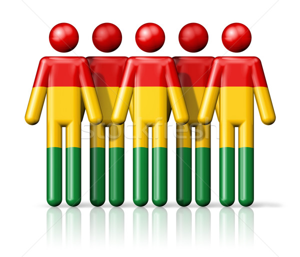 Flag of Bolivia on stick figure Stock photo © daboost