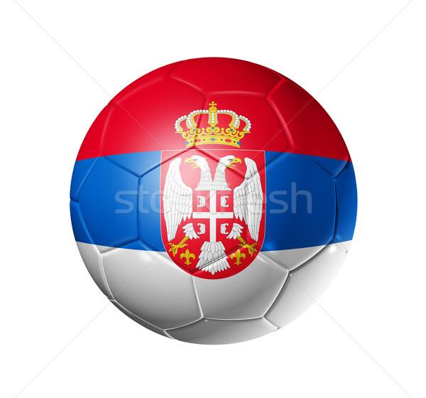 Voetbal voetbal bal Servië vlag 3D Stockfoto © daboost