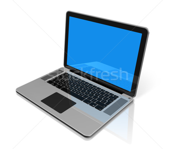 Laptop computer isolated on white Stock photo © daboost