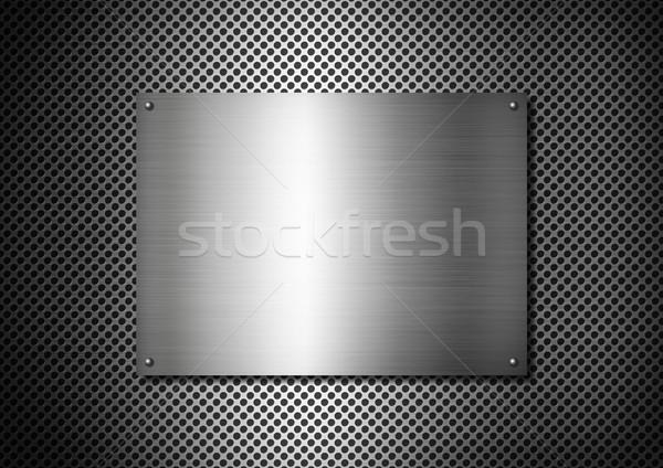 Argento metal texture piatto alluminio griglia texture Foto d'archivio © daboost