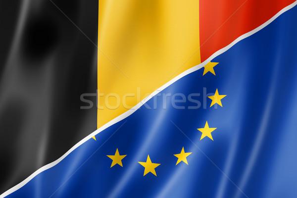 Belgium and Europe flag Stock photo © daboost