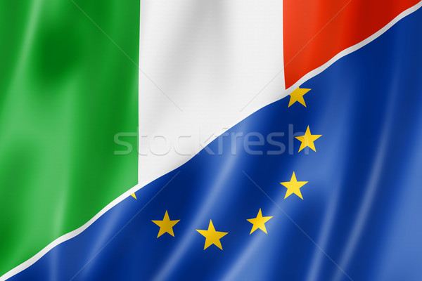Italy and Europe flag Stock photo © daboost