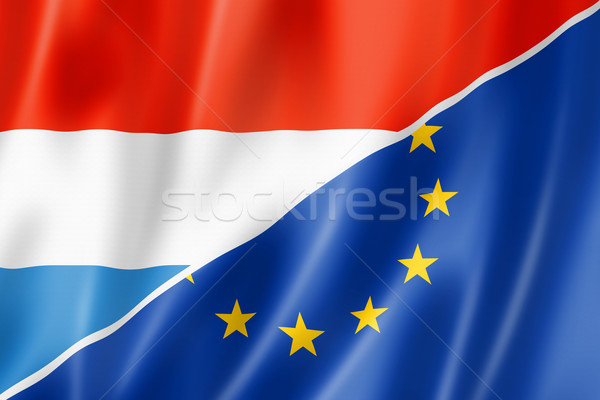Luxembourg and Europe flag Stock photo © daboost