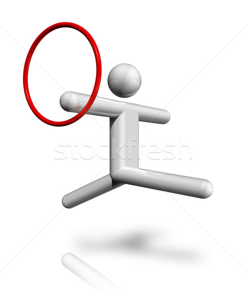 Gymnastics Rhythmic 3D symbol Stock photo © daboost