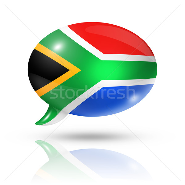 South African flag speech bubble Stock photo © daboost