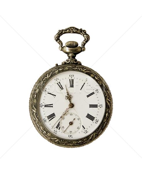 Oude zakhorloge klok metaal tijd horloge Stockfoto © daboost