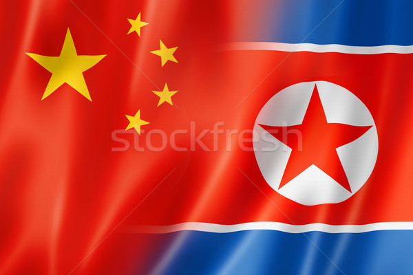 China and north korea flag Stock photo © daboost