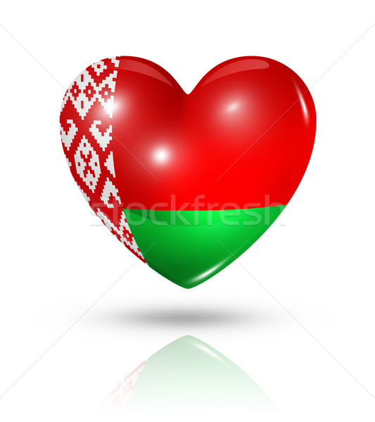 Love Belarus, heart flag icon Stock photo © daboost