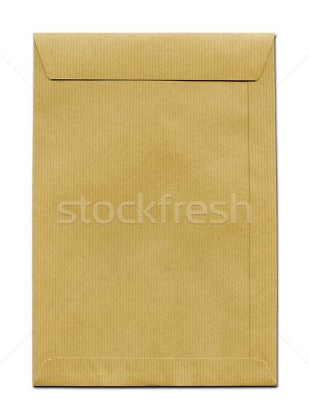 Carta marrone busta isolato bianco Foto d'archivio © daboost