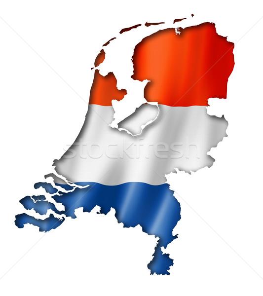 Netherlands flag map Stock photo © daboost
