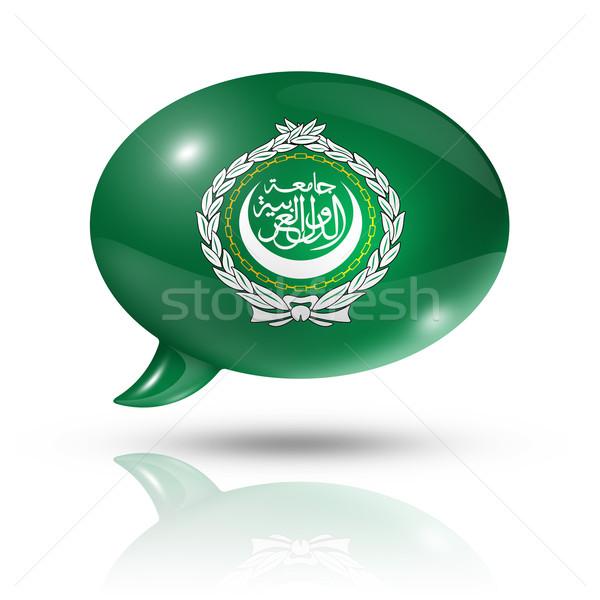Arab League flag speech bubble Stock photo © daboost