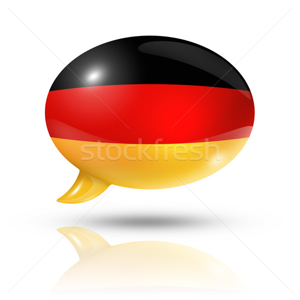 German flag speech bubble Stock photo © daboost