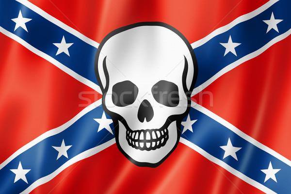 Confederate death flag Stock photo © daboost