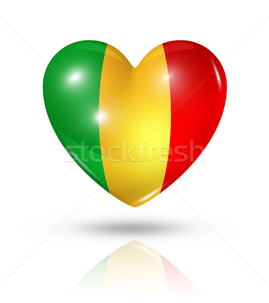 Love Mali, heart flag icon Stock photo © daboost