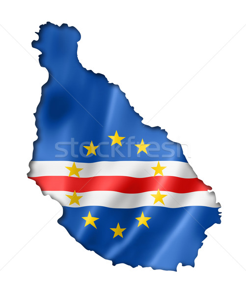 Cape Verde flag map Stock photo © daboost