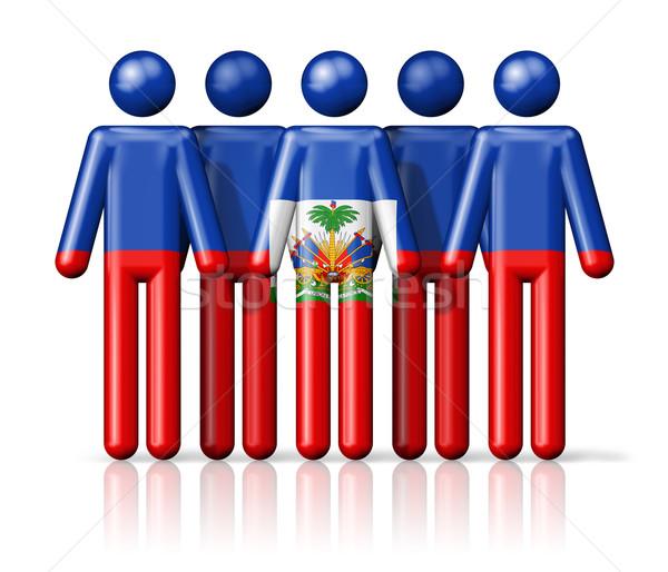フラグ ハイチ 社会 コミュニティ シンボル ストックフォト © daboost