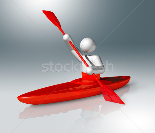 Canoe Slalom 3D symbol, Olympic sports Stock photo © daboost