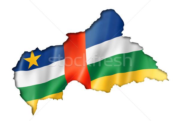 Központi afrikai köztársaság zászló térkép Afrika Stock fotó © daboost