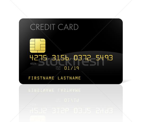 Zwarte creditcard geïsoleerd witte geld Stockfoto © daboost