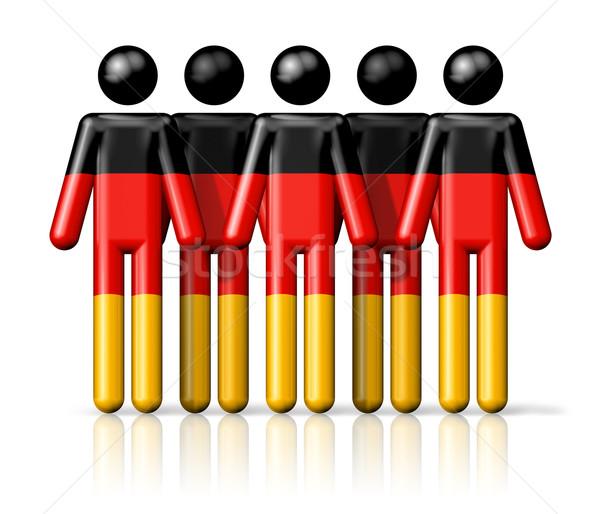 Zászló Németország pálcikaember társasági közösség szimbólum Stock fotó © daboost