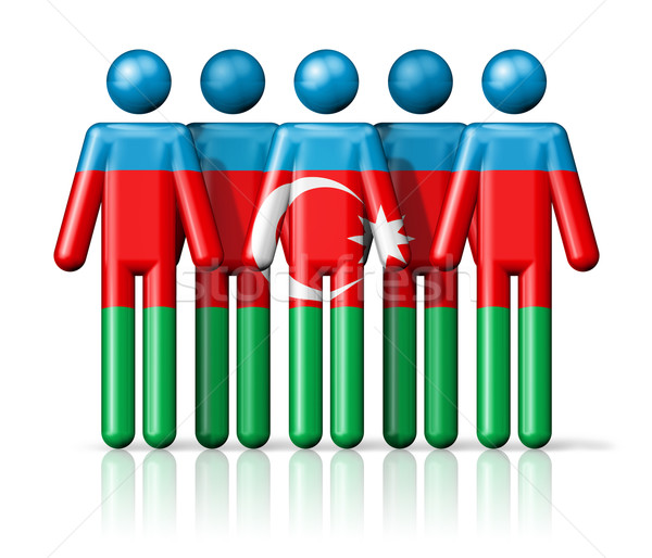 Bandera Azerbaiyán social comunidad símbolo Foto stock © daboost