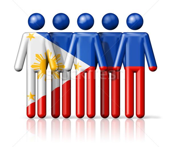 Bandeira Filipinas social comunidade símbolo Foto stock © daboost