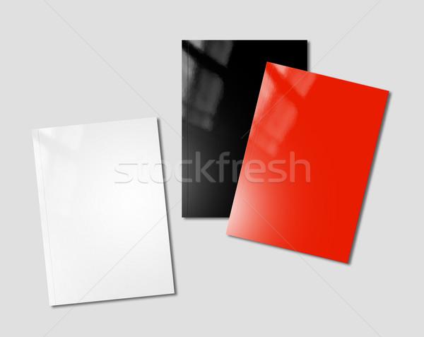 Modèle blanche noir rouge livret Photo stock © daboost
