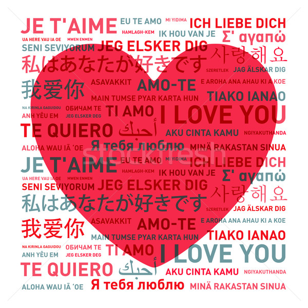 Love message card from the world Stock photo © daboost