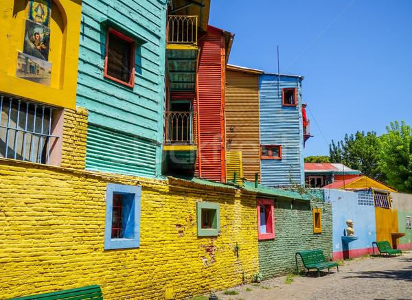 красочный домах Буэнос-Айрес Аргентина древесины улице Сток-фото © daboost