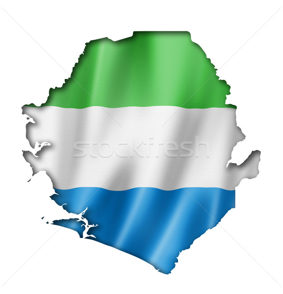 Sierra Leone flag map Stock photo © daboost