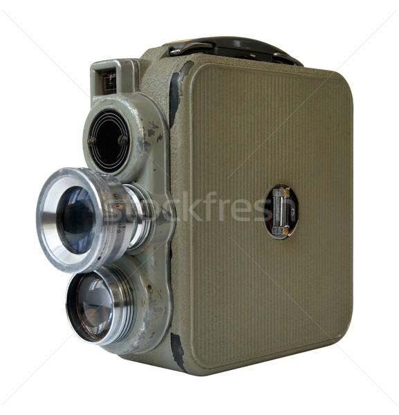 Eski 8mm kamera beyaz Stok fotoğraf © daboost
