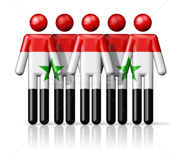Stock fotó: Zászló · Szíria · pálcikaember · társasági · közösség · szimbólum
