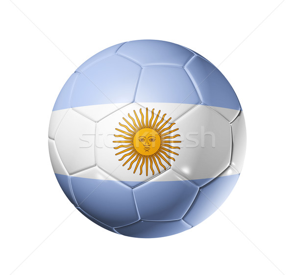 Soccer football ball with Argentina flag Stock photo © daboost