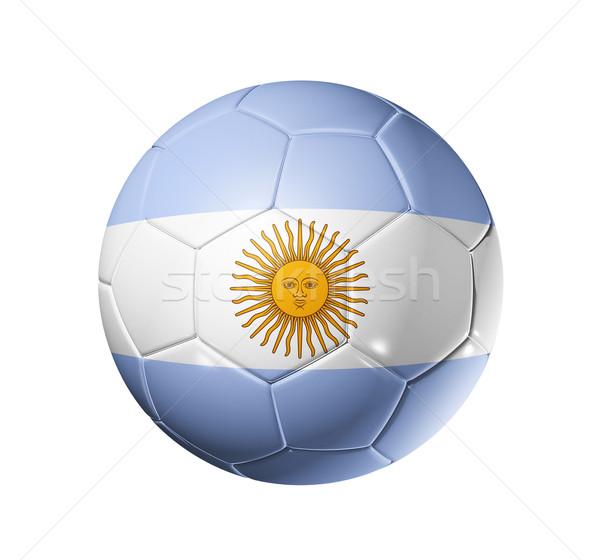 Fotbal fotbal bilă Argentina pavilion 3D Imagine de stoc © daboost